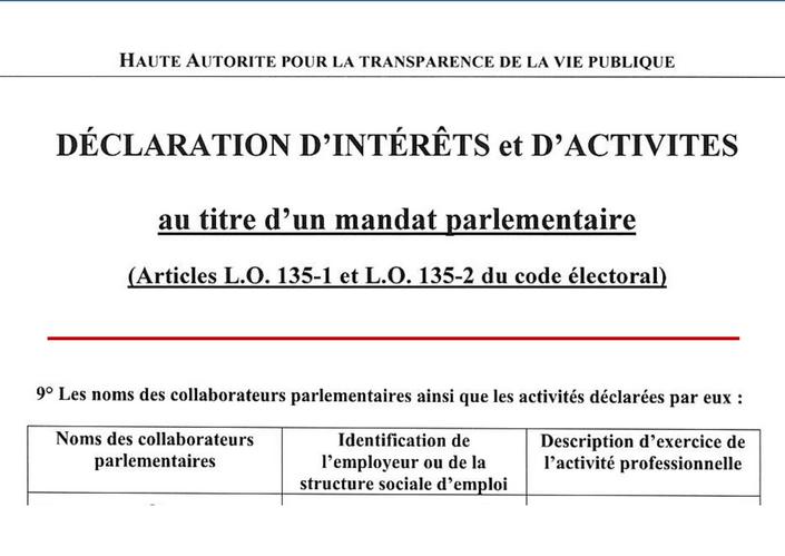 HATVP-assistant parlementaire