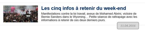 Le Monde-5 infos