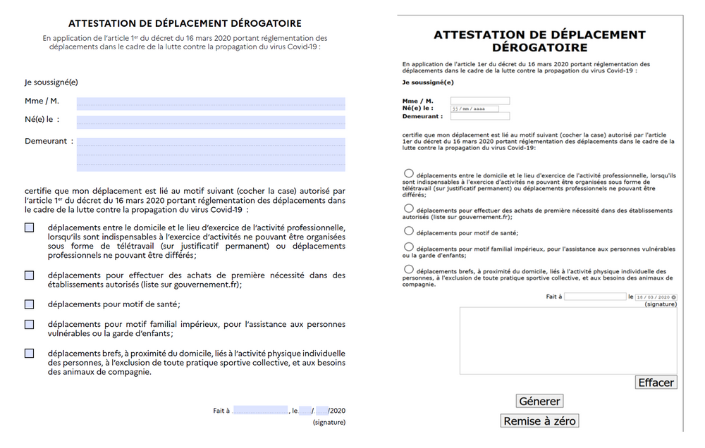 L Attestation De Deplacement Derogatoire Mars Avril 2020 Le Blog De Marie Anne Chabin